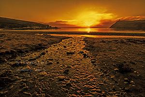 Port Erin Beach at Sunset